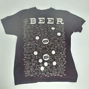 Pop ChartLab Beer Brown Graphic Shirt